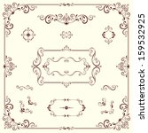 vector swirl ornate motifs and... | Shutterstock .eps vector #159532925