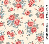 Vintage Roses   Seamless Vecto...