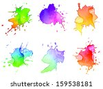 abstract hand drawn watercolor... | Shutterstock . vector #159538181