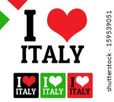 I Love Italy Sign And Labels On ...