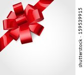 bow made of shiny red ribbon.... | Shutterstock .eps vector #159539915