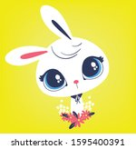Cute Rabbit Vector.easter Bunny....