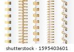 set of gold vertical spirals... | Shutterstock .eps vector #1595403601