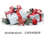 Christmas Gifts On White...
