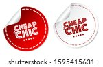 cheap and chic stickers...   Shutterstock .eps vector #1595415631