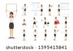 set of working people on white... | Shutterstock .eps vector #1595415841