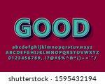 """good"" vintage look font effect ...   Shutterstock .eps vector #1595432194"