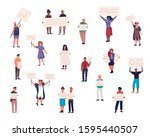 protest crowd characters....   Shutterstock .eps vector #1595440507