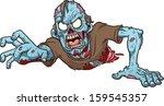 cartoon crawling zombie. vector ... | Shutterstock .eps vector #159545357