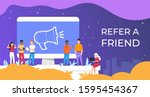 refer a friend. people group...