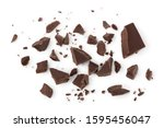 Piece of chocolate isolated on...