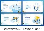 trendy flat illustration. set... | Shutterstock .eps vector #1595462044