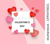 happy valentine s day greeting... | Shutterstock .eps vector #1595470021