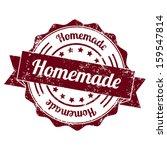 homemade vintage stamp | Shutterstock . vector #159547814