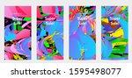 abstract social media template...   Shutterstock .eps vector #1595498077