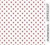 valentines seamless pattern... | Shutterstock .eps vector #1595531107