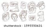 Vector Set Of Ancient Antique...
