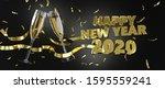happy new year 2020  new year ...   Shutterstock . vector #1595559241