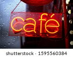 Cafe Neon Red Sign During Heavy ...