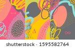 creative doodle art header with ... | Shutterstock .eps vector #1595582764