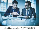 image of two young businessmen... | Shutterstock . vector #159559379