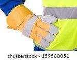 blue collar worker. | Shutterstock . vector #159560051