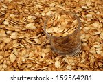 roasted pumpkin seeds pepitas | Shutterstock . vector #159564281