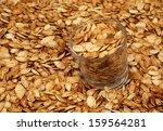roasted pumpkin seeds pepitas | Shutterstock . vector #159564281