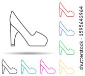 high heel shoes multi color...