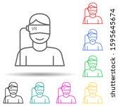 vr glasses virtual reality...   Shutterstock .eps vector #1595645674
