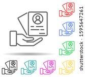 cv multi color style icon....