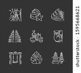 indonesia chalk icons set.... | Shutterstock .eps vector #1595668621