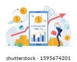 online currency exchange or...   Shutterstock .eps vector #1595674201
