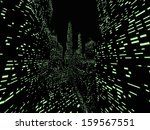 night city space with green... | Shutterstock . vector #159567551