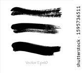 vector brush stroke watercolor...   Shutterstock .eps vector #1595736511