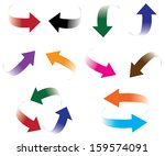 set of arrow stickers  vector... | Shutterstock .eps vector #159574091