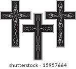 vector cross design ornamental | Shutterstock .eps vector #15957664