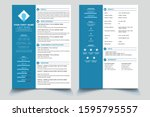 creative cv resume template...   Shutterstock .eps vector #1595795557