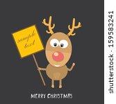 vector christmas reindeer | Shutterstock .eps vector #159583241