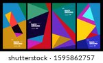 2020 cover and poster design... | Shutterstock .eps vector #1595862757