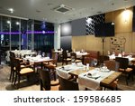 new and clean luxury restaurant ... | Shutterstock . vector #159586685