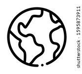 planet earth globe icon vector. ... | Shutterstock .eps vector #1595873911