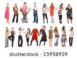 2 rows of young people | Shutterstock . vector #15958939