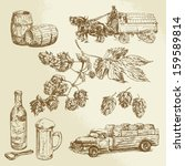 beer collection  hand drawn...   Shutterstock .eps vector #159589814
