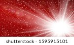 light ray flare isolated on red ... | Shutterstock .eps vector #1595915101