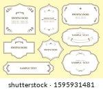 european luxury decorative... | Shutterstock .eps vector #1595931481