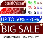 new year and christmas special... | Shutterstock . vector #1595933494