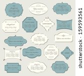 vintage frame set. calligraphic ... | Shutterstock .eps vector #159593561
