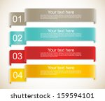 set of ribbons | Shutterstock .eps vector #159594101