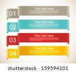 set of ribbons   Shutterstock .eps vector #159594101
